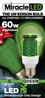 un edison all purpose green led light bulb 60 watt equivalent