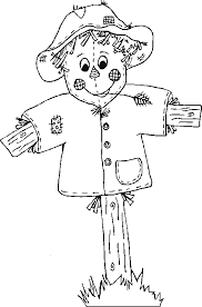 Scarecrow2 Free Printable Fall Coloring Pages