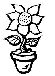Flower In A Pot Coloring Pages For Kids To Print Free And Paint