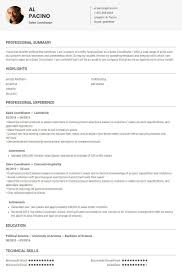 Sales Coordinator Resume Sample Template By Skillroads