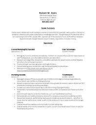 Internet Marketing Resume Sample Download Digital Samples Templates