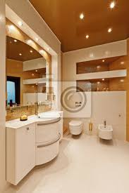 schöne moderne badezimmer in hellen farben bilder myloview
