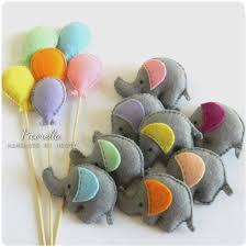 A Set Of Felt Elephant Party Favor Felt Elephant Baby Shower Favor Felt Elephant Plush Felt Elephant Ornaments