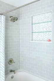 Subway Tile Bathtub Modern Master Bathroom White Subway Tile Bath