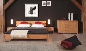 chambre bois massif contemporain lit contemporain oslo mobilier de chambre à coucher bois massif