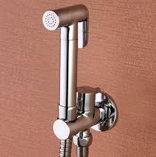 großhandel kupfer chrom wc kupfer bidet spray duschkopf kit shatta kupferventil badezimmer bidet sprayer jet wasserhahn bd121