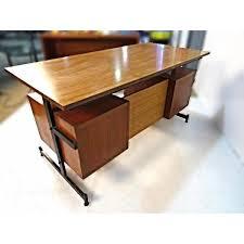 Raymour And Flanigan Desk Armoire by Teak Iron Mid Century Modern Desk Writing Table Aptdeco