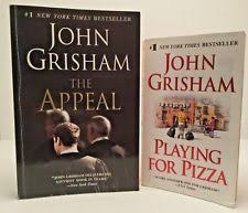 Lot Of 2 John Grisham Books The Appeal Playing For Pizza