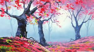 Spring Painting 4K HD Desktop Wallpaper For Ultra TV O Wide