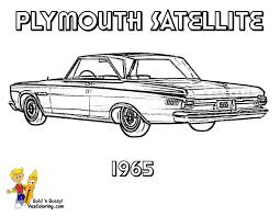 Beautiful Muscle Car Coloring Pages 36 For Your Free Book With