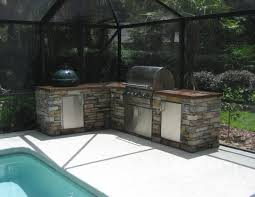 Incomparable Outdoor Kitchen Concepts Grill With L Shaped Layout And Built In Barbecue Grills Stainless