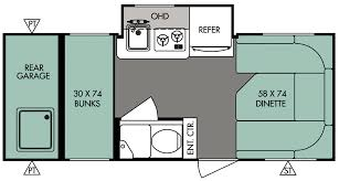 Travel Trailer Floor Plans Rear Kitchen by Poulsbo Rv