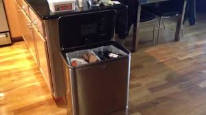 Trash Cans Bed Bath Beyond by Simple Human Electronic Trash Can Faulty Youtube