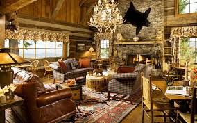 Rustic Style Interiors Decoration