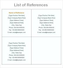 Listing References On Resume Sample Of Reference In List Template 5 Free Documents Download Professional