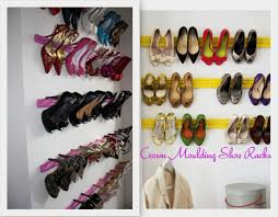 Will Be Using This Idea In The Walk Closet Creative DIY Shoe Storage With Vivid Colored Wall Shelfs