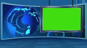 News 16 Broadcast Tv Studio Green Screen Background Loopable Motion