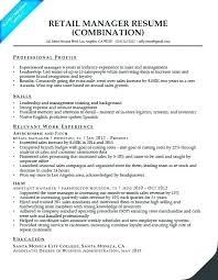 Retail Store Manager Resume Sample India Cover Letter Combination
