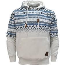 tokyo tigers horten aztec print pullover hoodie hoody hooded top