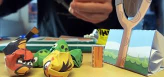 Make Your Own Playable Papercraft Version Of Angry Birds