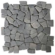 vidaxl mosaic marble broken tiles floor wall tile black