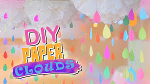 DIY Crepe Paper Clouds For PARTY Decoration Innovative Craft Show Using Easy Cheap Material