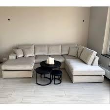 sofa u anordnung khaki abitare