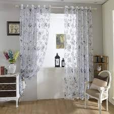 urijk transparent gardine raffrollo vorhang blumen muster