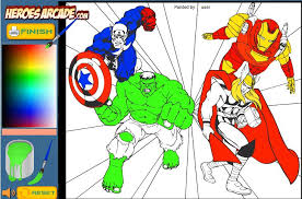 The Avengers Cartoon Coloring Game Online