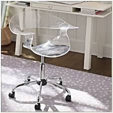 Acrylic Desk Chair On Casters by Acrylic Vanity Chair With Wheels Chairs Home Decorating Ideas