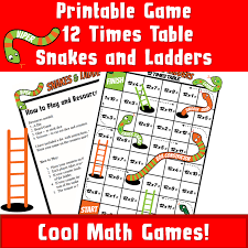 Kids Printable Games Board Multiplication Tables 12