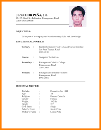 5 sample of cv for job application pdf