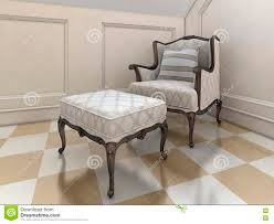 der große sessel im badezimmer in der englischen stock