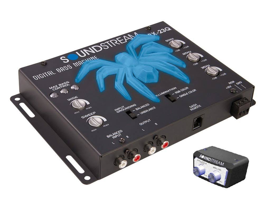 Soundstream Premium Bass Reconstruction Processor w/ 3 Band EQ & RGB LED Tarantula