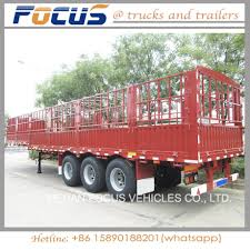 China Best Selling Utility Cattle Transport Stake/Fence Semi Truck ...