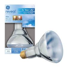 ge reveal 65 watt halogen br30 flood light bulb 65br30 h rvl tp
