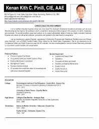 Ojt Resume Format For Template Easy Of Sample