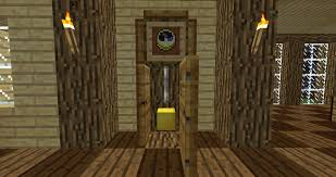 Minecraft Pe Living Room Designs by Minecraft Furniture Decoration Minecraft Grandfather Clock