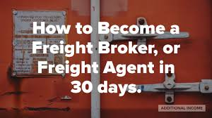 100 How To Become A Truck Broker To Make Money At Home As A Freight Gent Or Freight YouTube