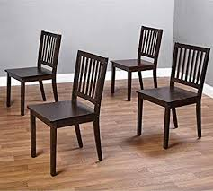 Slat Espresso Wooden Dining Chairs Set Of 4 A Good Chair Compliments