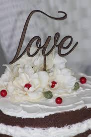 Rustic LOVE Wedding Cake Topper