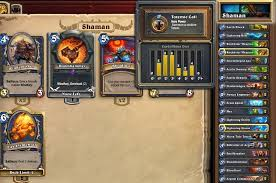 hearthstone features deckbuilding and crafting for the shaman