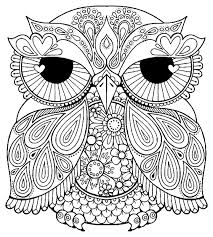Owl Mandala Coloring Pages