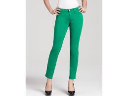 j brand luxe twill skinny jeans in emerald in green lyst
