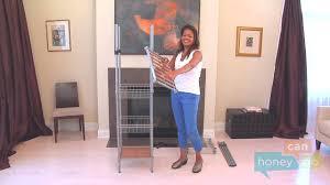 honey can do wrd 02350 adjustable free standing steel closet