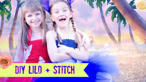Lilo And Stitch Halloween by Diy Lilo And Stitch Costume Tutu No Sew Dress Youtube