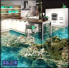 Poured Epoxy Flooring Kitchen by June 2017