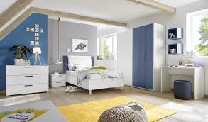 schlafzimmer freli blau weiß inkl schreibtisch