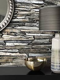 steintapete vlies grau edel schöne edle tapete im steinmauer design moderne 3d optik für wohnzimmer schlafzimmer oder küche inklusive