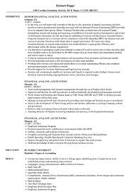Download Financial Analyst Accounting Resume Sample As Image File